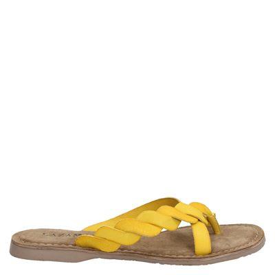 Lazamani dames slippers geel