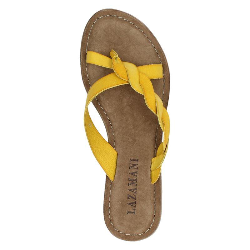 Lazamani - Slippers - Geel