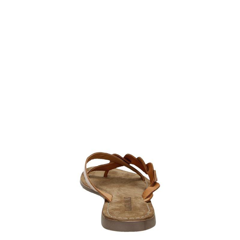Lazamani - Slippers - Cognac