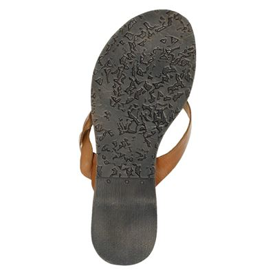 Lazamani dames slippers Cognac