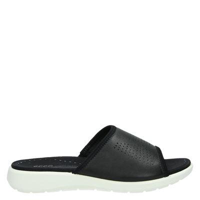 Ecco dames slippers zwart
