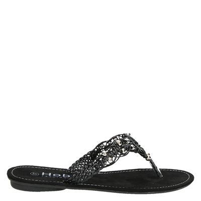 Hobbs dames slippers Zwart