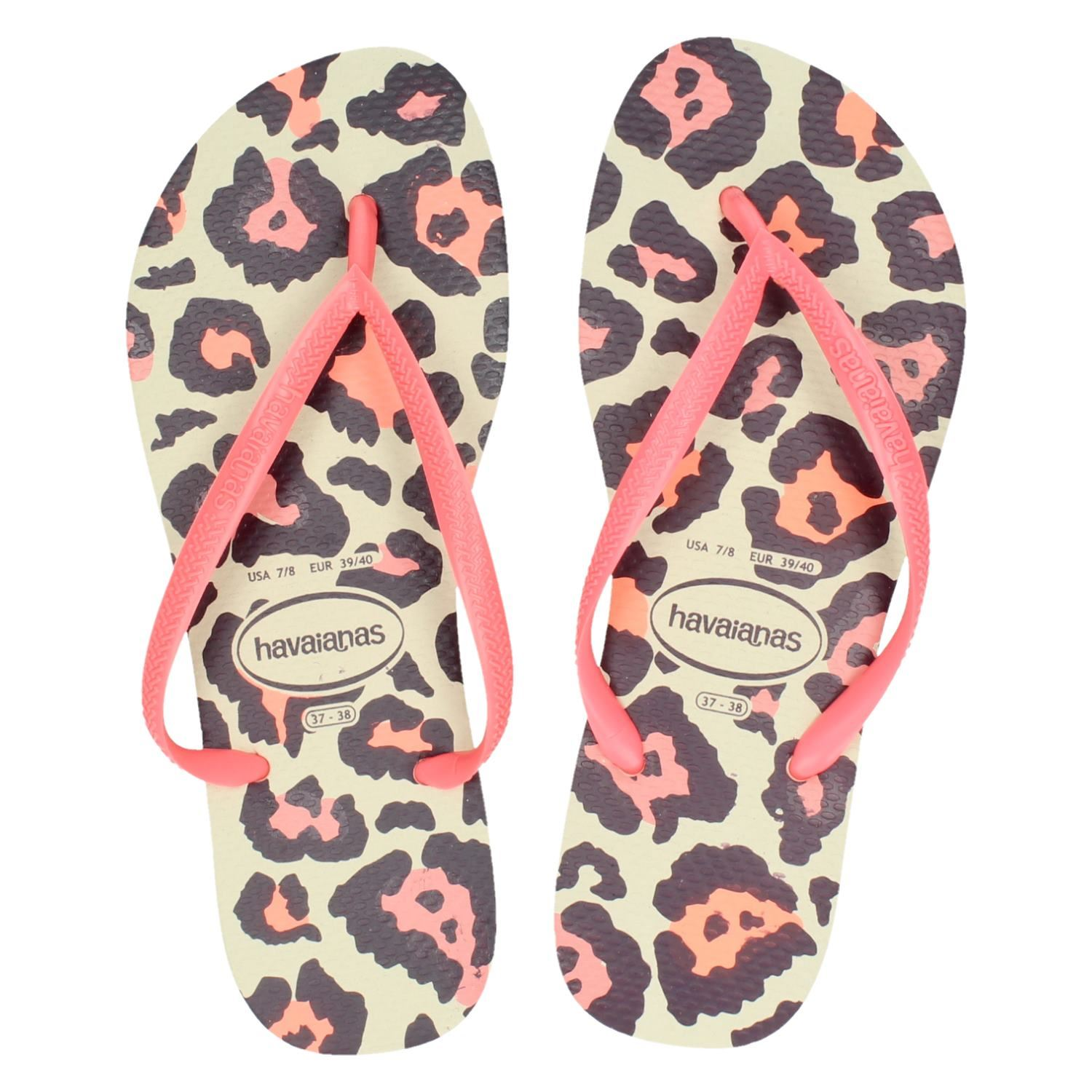 174d37782b7 Havaianas Slim Animals dames slippers roze