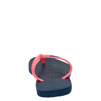 Havaianas Slim Logodames slippers Blauw