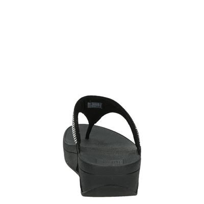 Fitflop Slinky Rokkit Toe-Postdames slippers Zwart