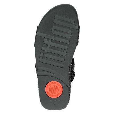 Fitflop Glitterball Slidedames slippers Zwart