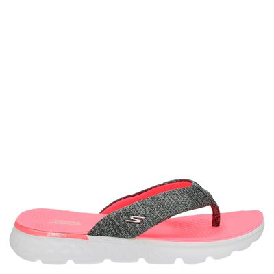 Skechers dames slippers grijs