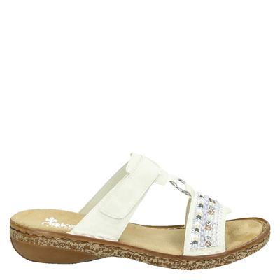 Rieker dames slippers wit