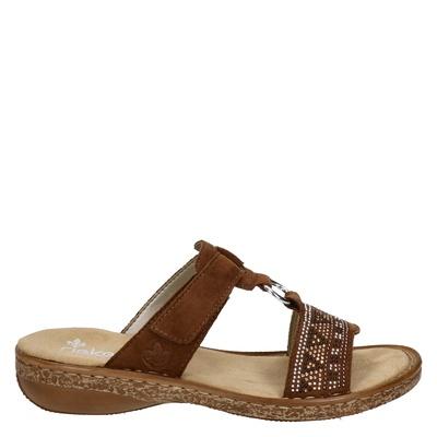 Rieker dames slippers cognac