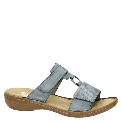 Rieker dames slippers Blauw