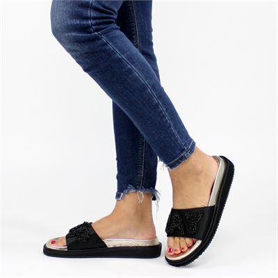 Replay dames slippers zwart