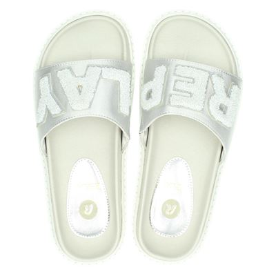 Replay dames slippers zilver