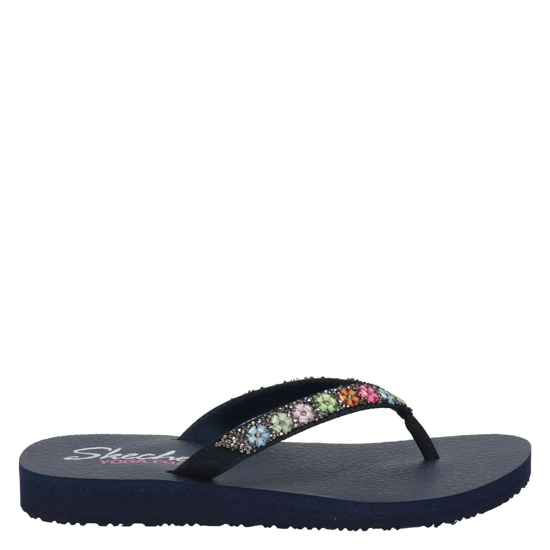 Skechers Cali Pantoufles Noires c5hYvG5Lk