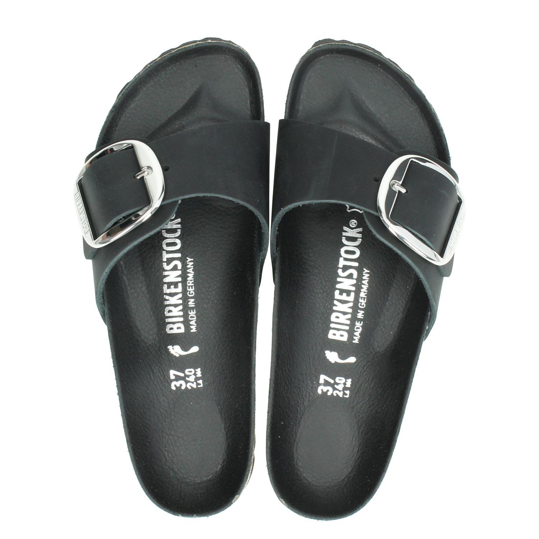 cfe2731a6c8 Birkenstock Madrid Big Buckle dames slippers zwart