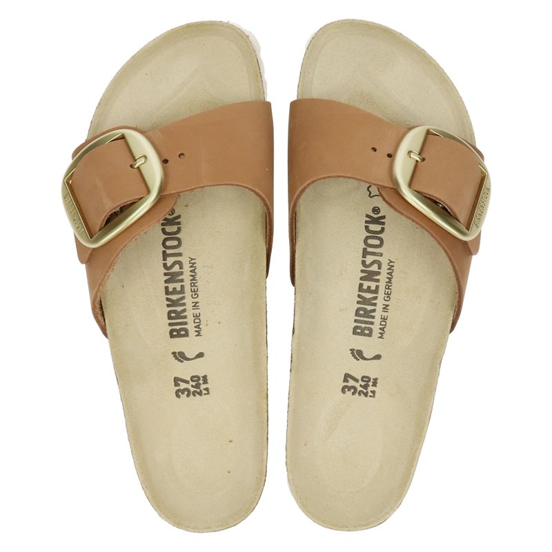 Birkenstock Madrid Big Buckle - Slippers - Cognac