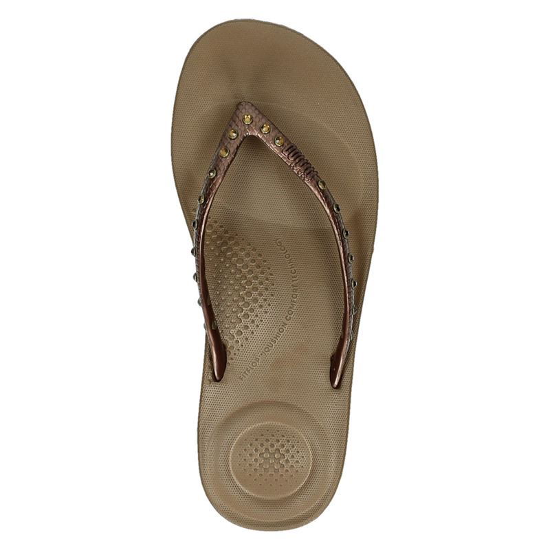 Fitflop Iqushion Ergonomic - Slippers - Brons