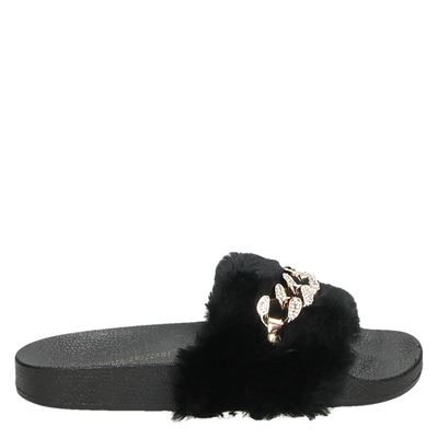 Claudia Ghizzani dames slippers zwart