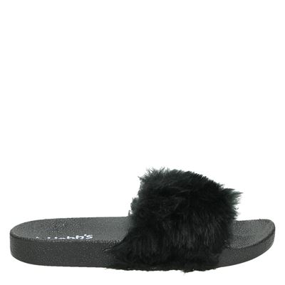 Hobb's dames slippers zwart