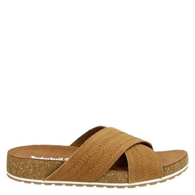 Timberland dames slippers cognac