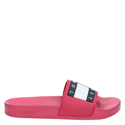 Tommy Jeans dames slippers roze