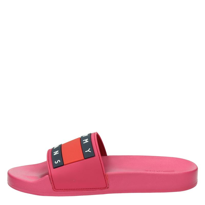 Tommy Jeans Jeans Flag Pool slid - Badslippers - Roze