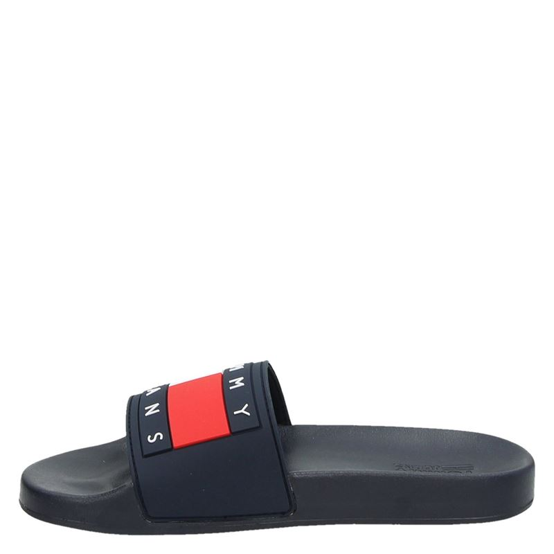 Tommy Jeans Jeans Flag - Badslippers - Blauw
