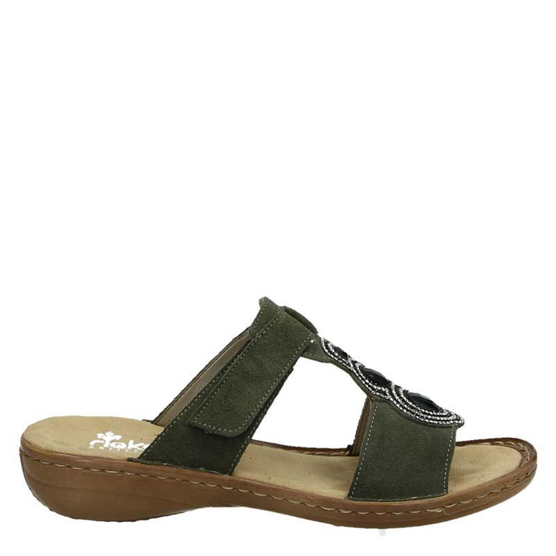 Rieker - Slippers - Groen