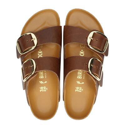 Birkenstock dames slippers cognac