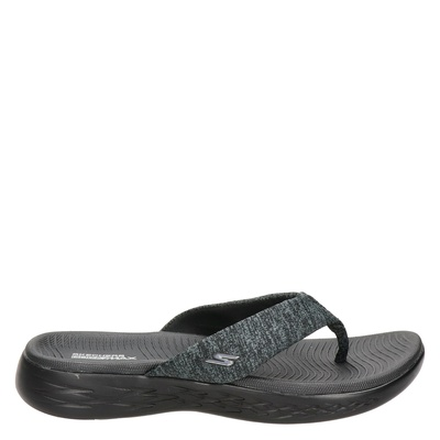 Skechers dames slippers zwart