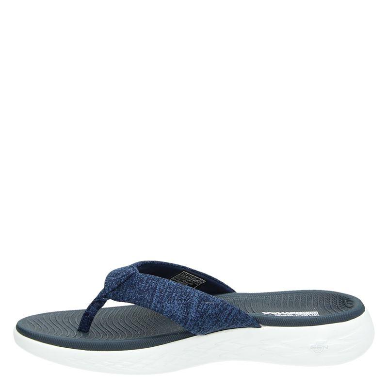 Skechers Goga Max - Slippers - Blauw