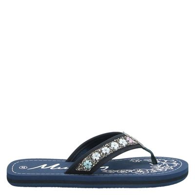 Mustang dames slippers blauw
