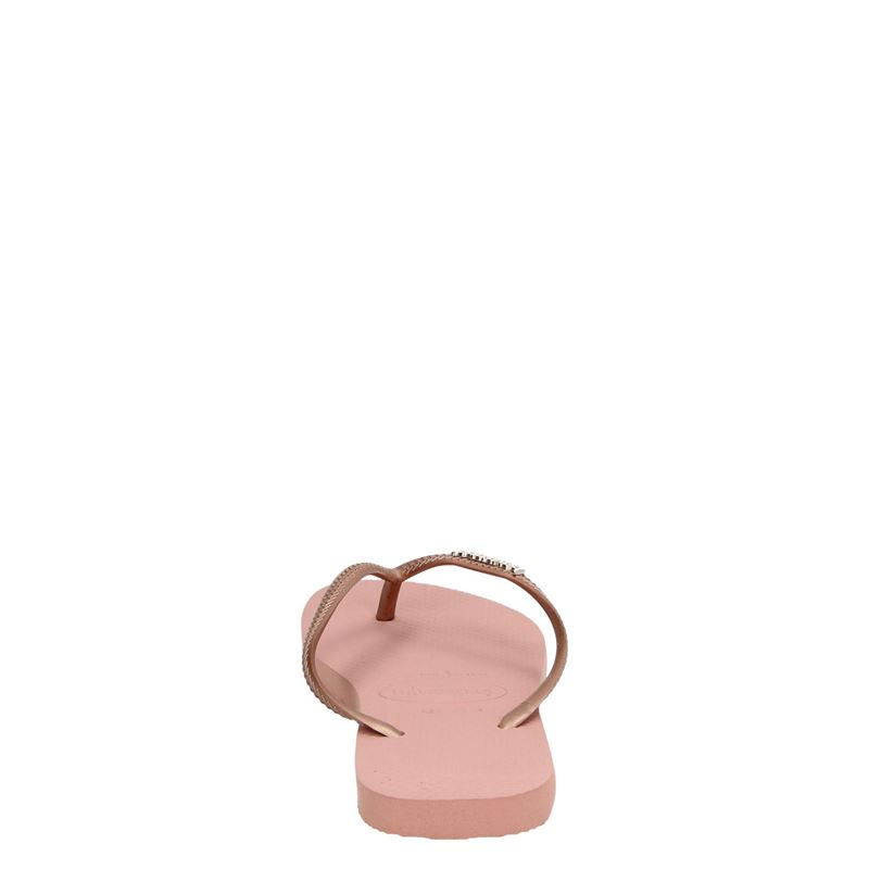 Havaianas Slim Logo Metallic - Slippers - Rose goud