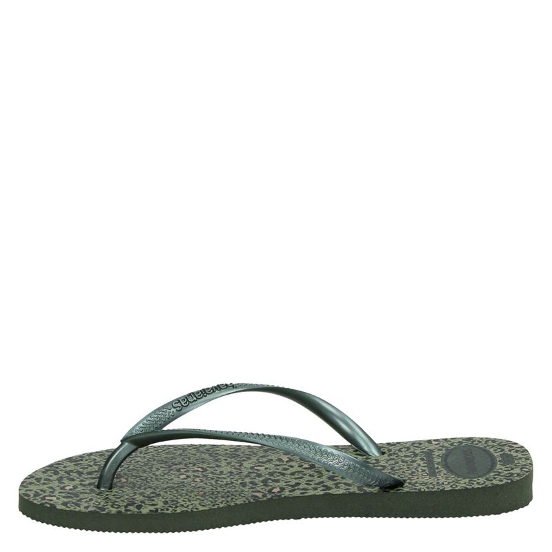 Havaianas Slim Animals - Slippers - Groen