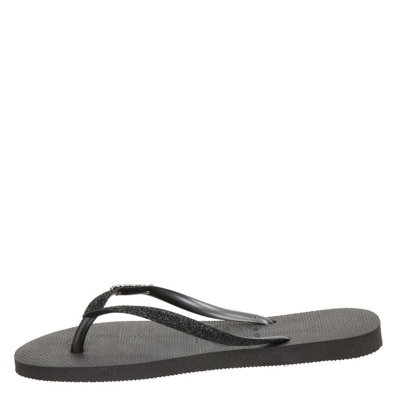 Havaianas Slim Glitter - Slippers - Zwart