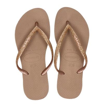 Havaianas Slim Glitter - Slippers - Rose goud