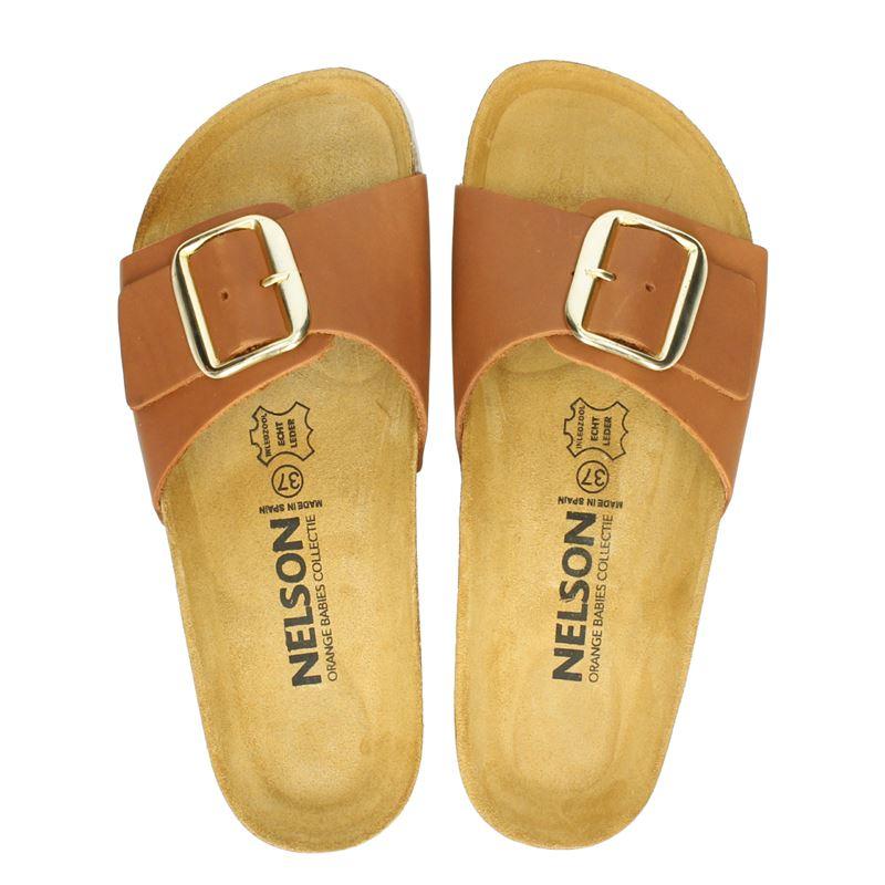 Nelson - Slippers - Cognac