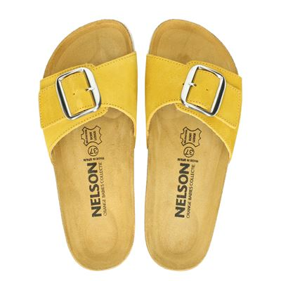 Nelson dames slippers geel