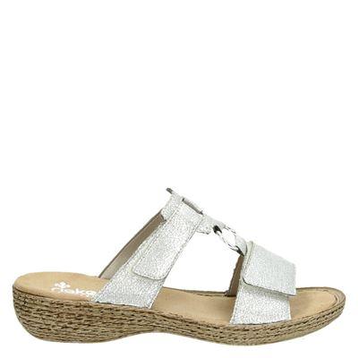 Rieker dames slippers zilver