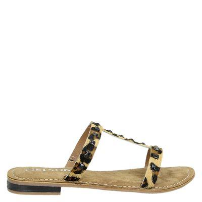 Nelson dames slippers bruin