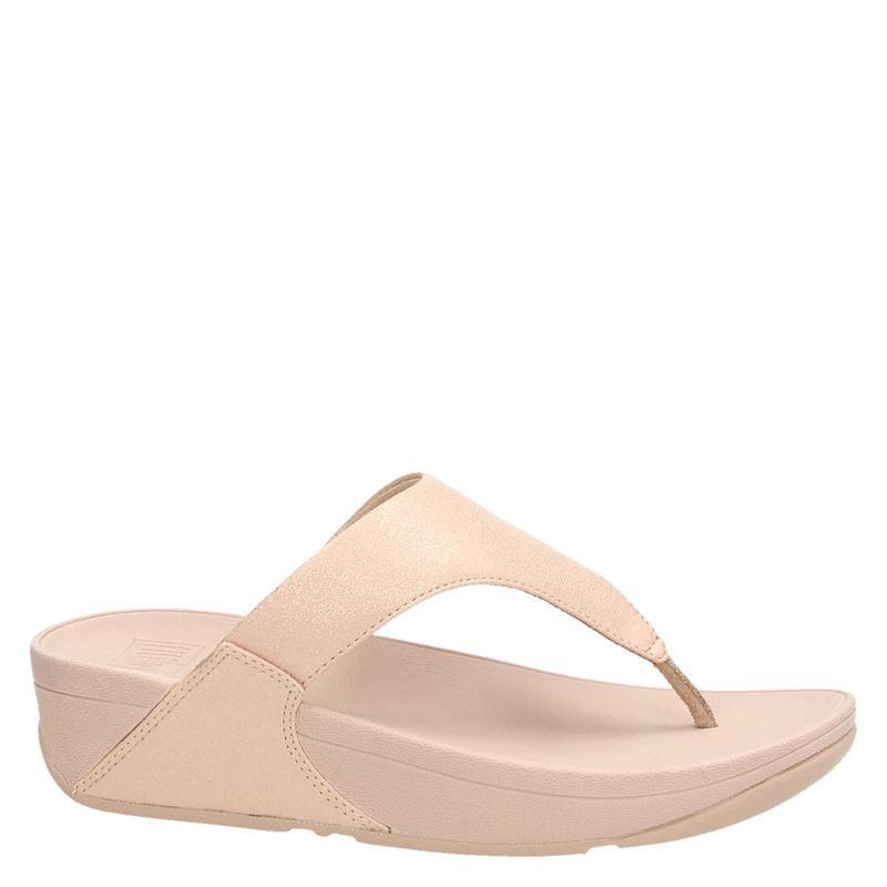 Fitflop Lulu Shimmer Toe Pose - Slippers - Roze