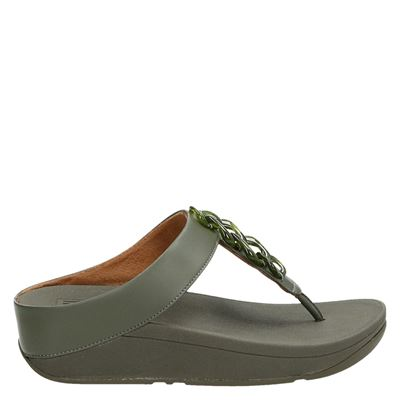 Fitflop dames slippers groen