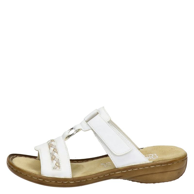 Rieker - Slippers - Wit