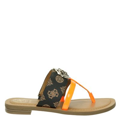 Guess dames slippers bruin