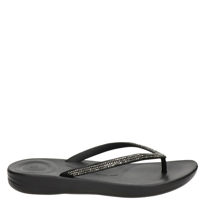 Fitflop Iqushion Sparkle - Slippers - Zwart