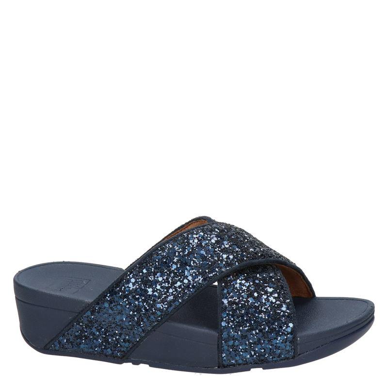 Fitflop Lulu Glitter - Slippers - Blauw