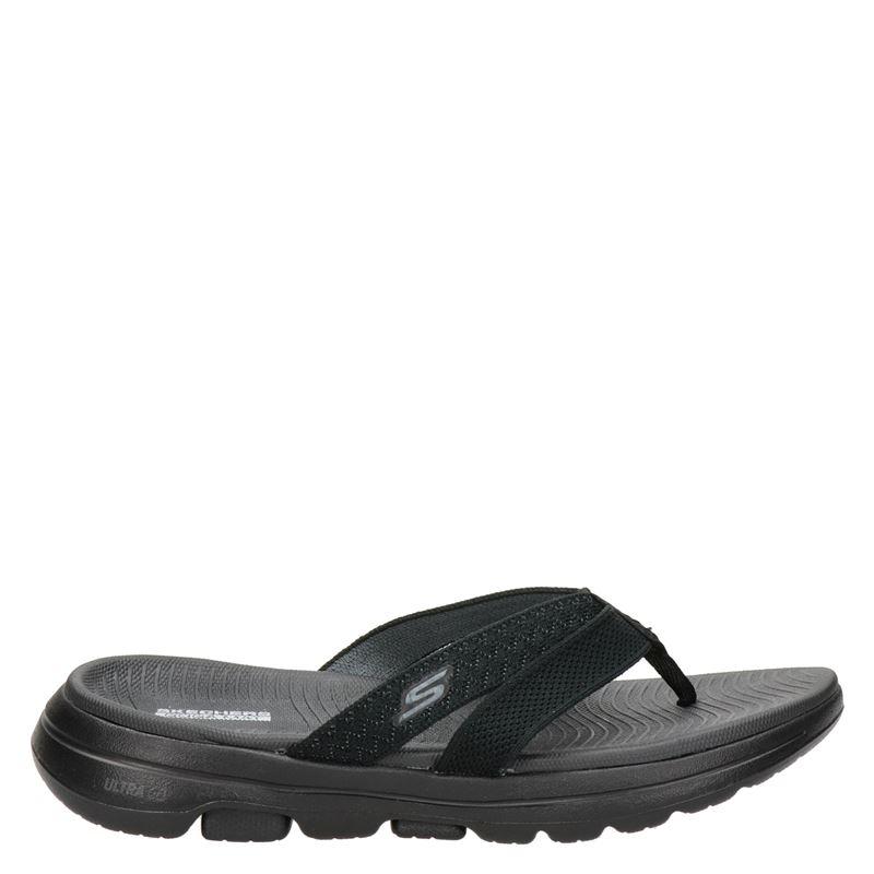 Skechers Go Walk Sun Kiss - Slippers - Zwart