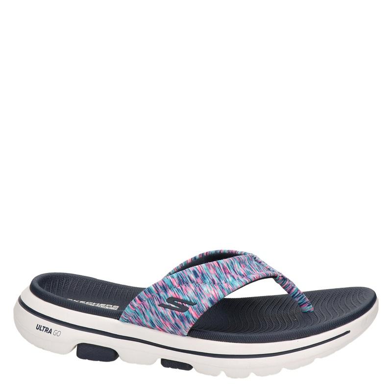 Skechers Go Walk - Slippers - Blauw