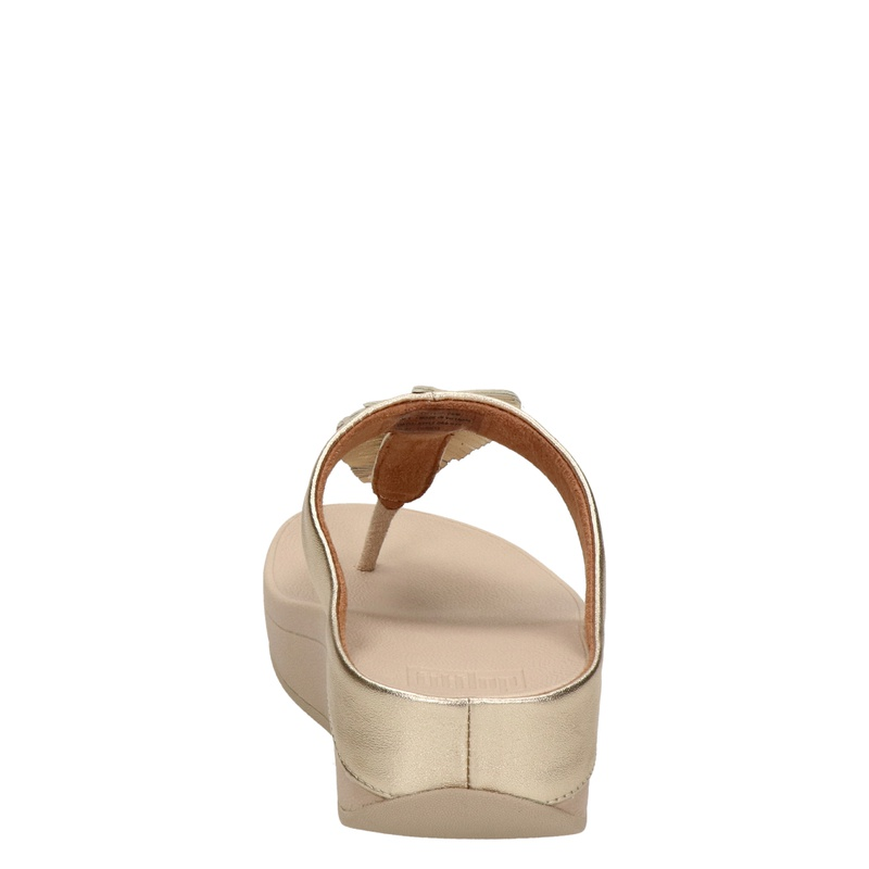 Fitflop Fino Feather - Slippers - Goud