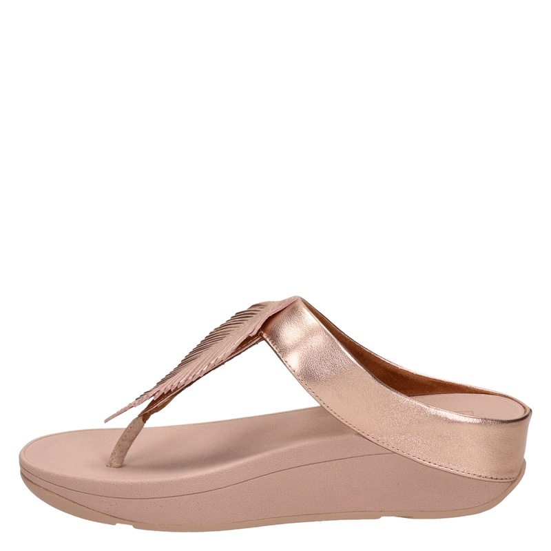 Fitflop Fino Feather - Slippers - Rose goud