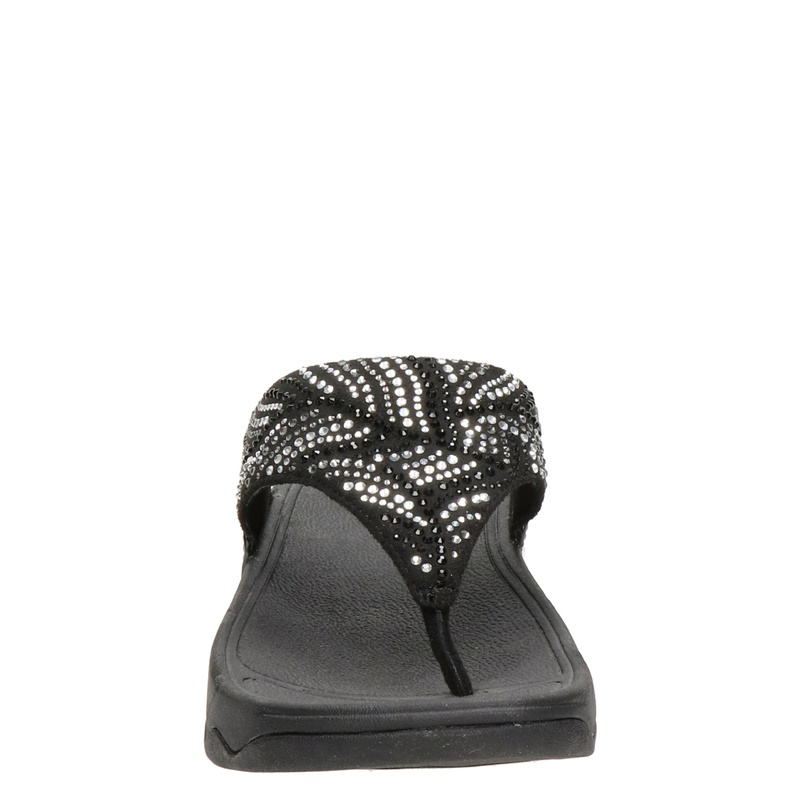 Fitflop Lulu Crystal Feather - Slippers - Zwart
